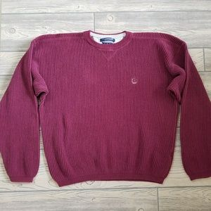 Vintage Tommy Hilfiger Crest Knit Sweater Sz XL